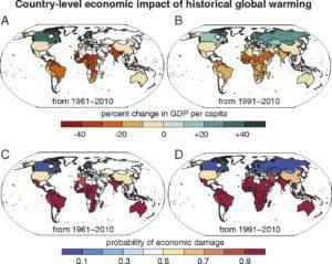 cambio climatico, temperatura, cambios, PIB, economía