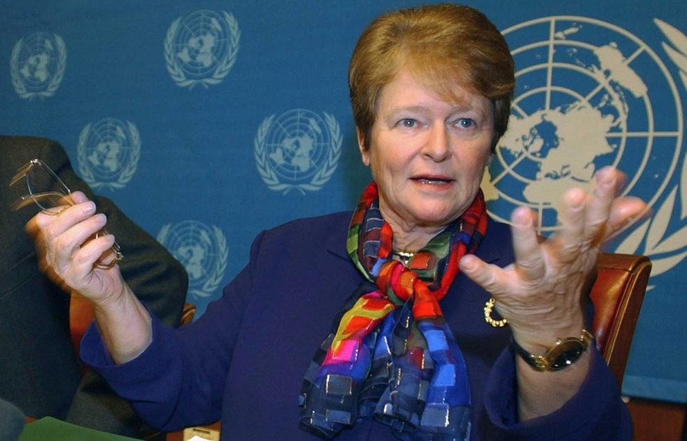 Gro Harlem Brundtland, ex primera ministra noruega, ex directora de la Organización Mundial de la Salud y una de las grandes defensoras del desarrollo sostenible desde los años 90. | FOTO: Efe