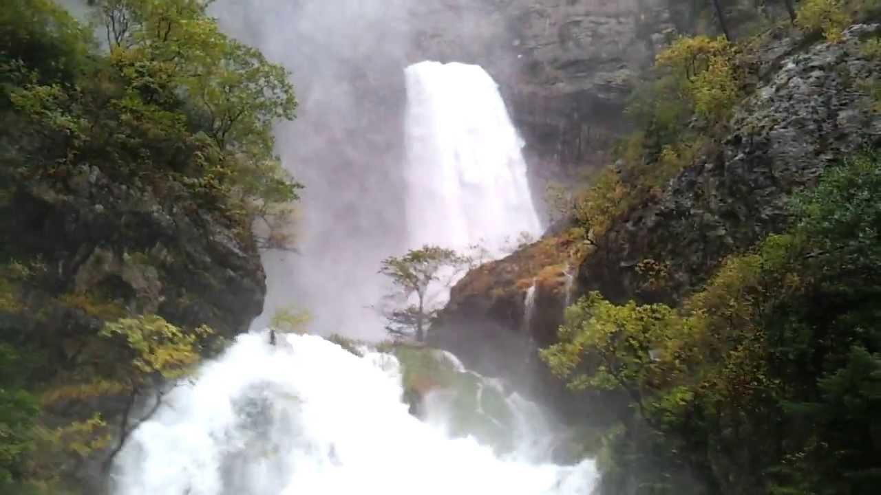reventón, río, mundo, cascada