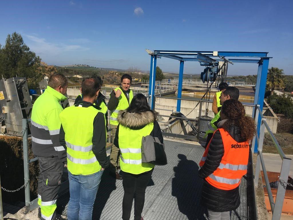 Visita a la EDAR de Montilla colaboradora Proyecto Reutivar