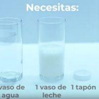 ¿Serías capaz de separar la leche del agua?