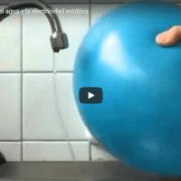 La electricidad estática y el agua