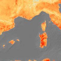 La ola de calor vista desde el espacio