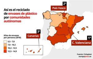 mapa Cicloplast, reciclaje