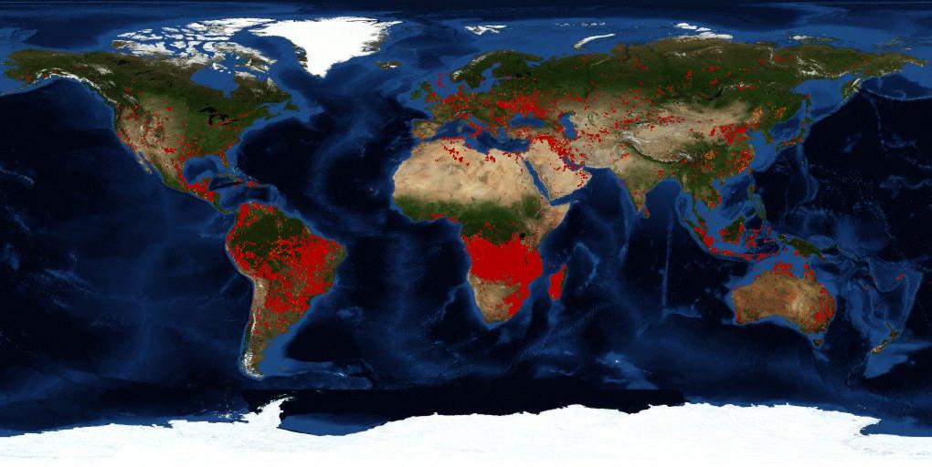 Nasa Mapa De Incendios.Ecologia Del Fuego Cuando Las Llamas Dan O Quitan Vida