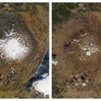 Islandia despide con una placa al desaparecido glaciar Okjökull