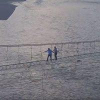El puente de Pakistán más peligroso