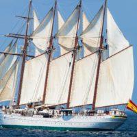 Elcano, de buque escuela militar a vigía contra el cambio climático