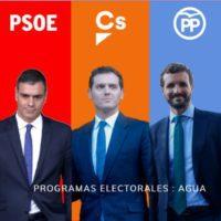 Los cinco partidos ofrecen pactos del agua en las elecciones del 10N