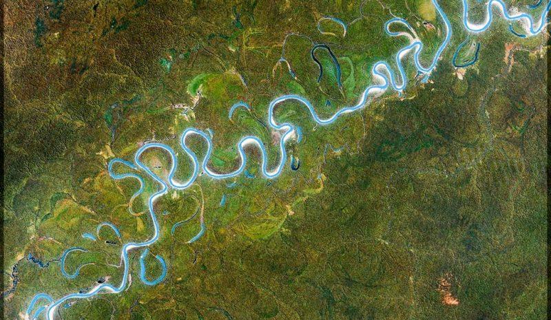 El Juruá, uno de los ríos más sinuosos del mundo