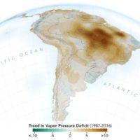 La actividad humana está secando el aire sobre el Amazonas