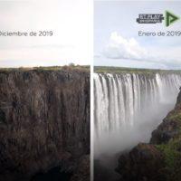 El antes y el después de las cataratas Victoria