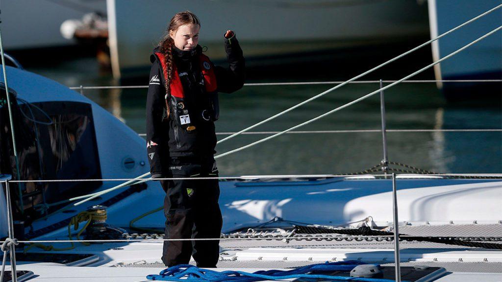 Greta Thunberg llegando a Lisboa (Portugal) | EFE/EPA/RODRIGO ANTUNES