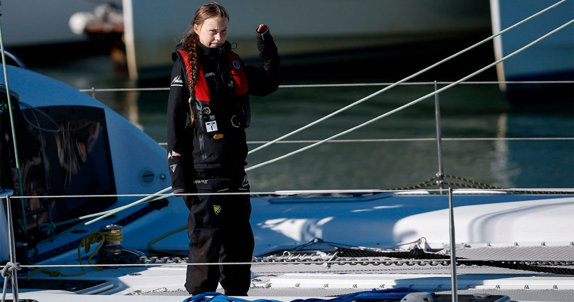 Greta Thunberg desembarca en Lisboa