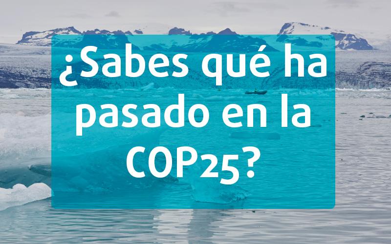 ¿Sabes qué ha pasado en la COP25?
