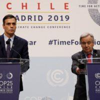 Pedro Sánchez promete que España mejorará su compromiso climático