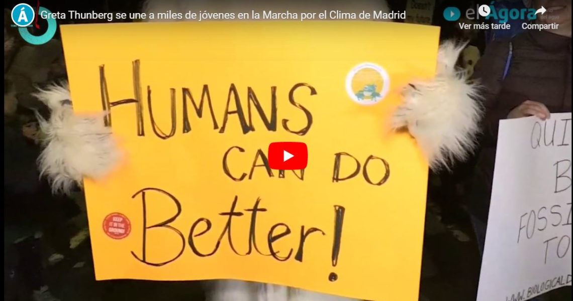 Greta Thunberg se une a miles de jóvenes en la Marcha por el Clima