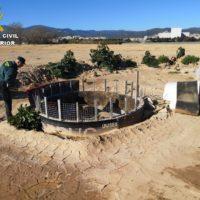 El Seprona localiza casi 1.500 pozos y balsas ilegales y detiene a 107 personas