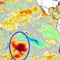 Una gran masa de agua caliente del Pacífico se mueve hacia Sudamérica