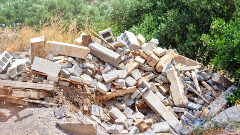 Escombros de obras, una buena alternativa para la fabricación de carreteras