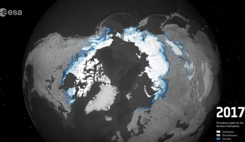 El deshielo del permafrost en 12 años