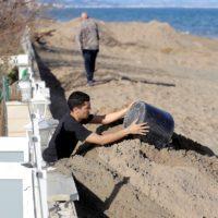 Las playas valencianas retroceden hasta 32 metros por el paso del temporal Gloria