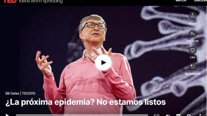 El vídeo de Bill Gates que anticipó hace cinco años el riesgo de pandemia