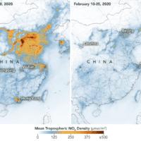 El coronavirus baja la polución en China