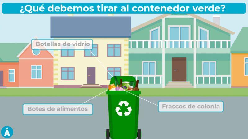 ¿Qué debemos tirar al contenedor verde?