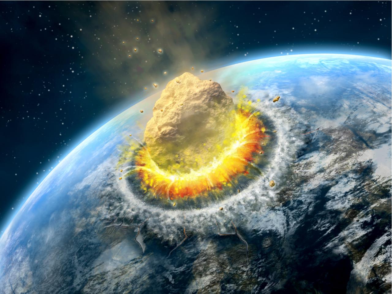 Los Dinosaurios Y El Crater De Chicxulub La principal es que desaparecieron por la caída de un meteorito de 15 kilómetros de largo en chibxulub, península de yucatán. los dinosaurios y el crater de chicxulub
