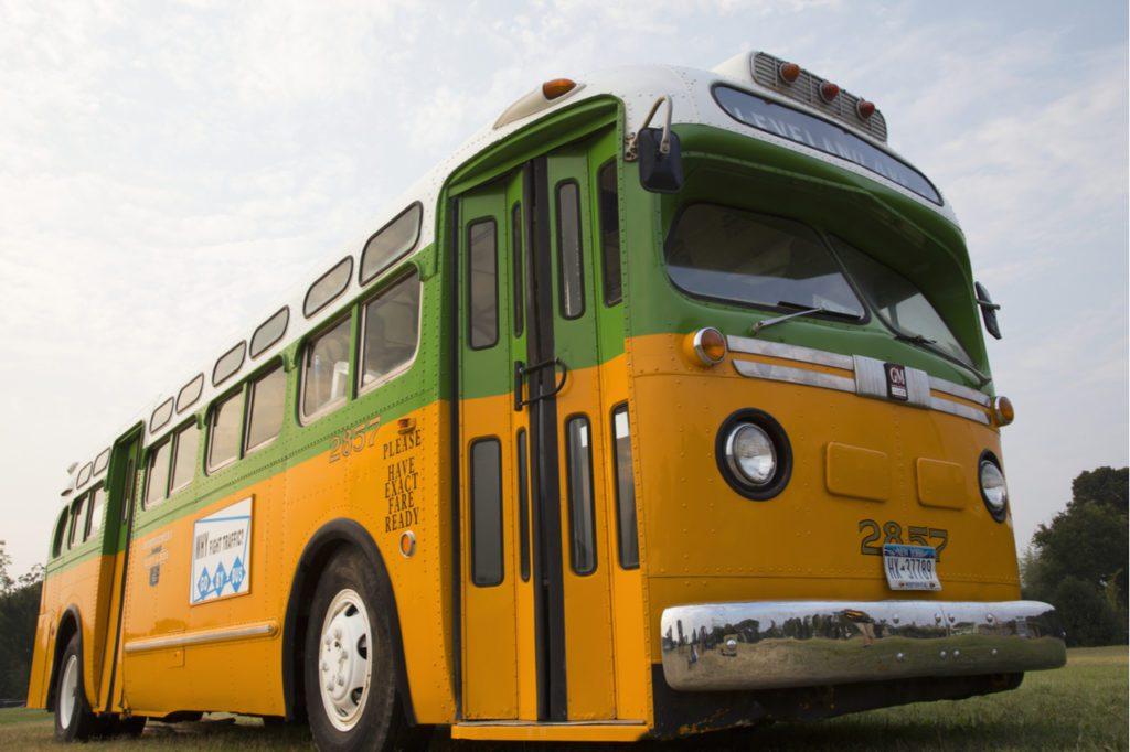 El autobús original de Rosa Parks, restaurado y expuesto en Washington 50 años después de los sucesos. | Crédito. Joseph Sohm