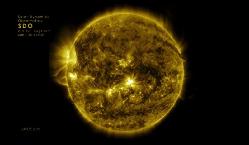 Diez años de la evolución del sol