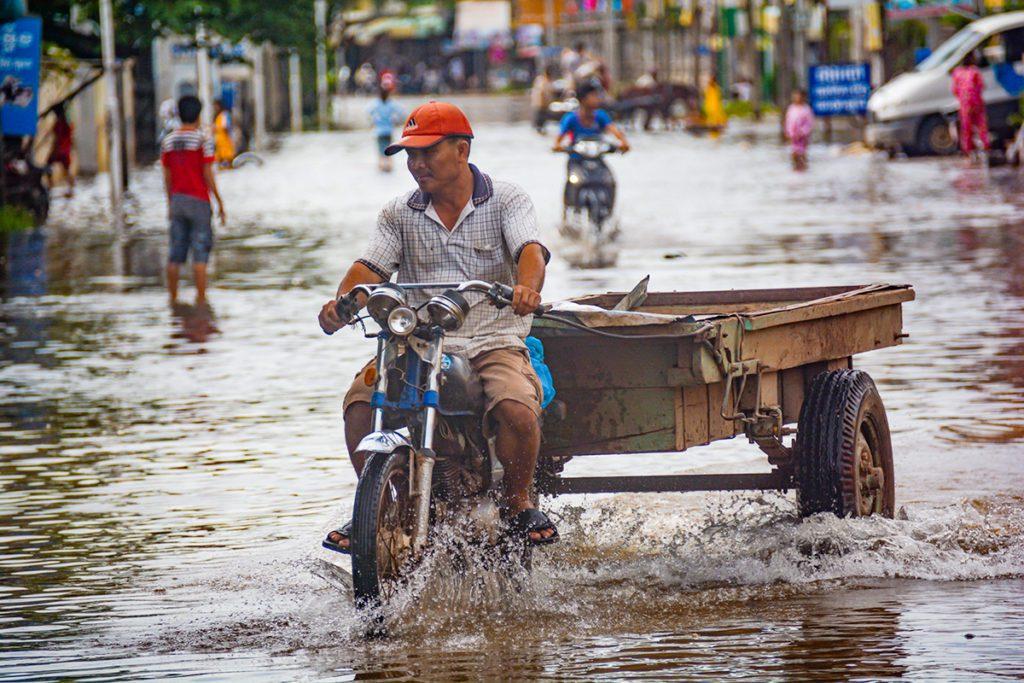 Inundación en una ciudad situada en el río Mekong | Universidad de Illinois