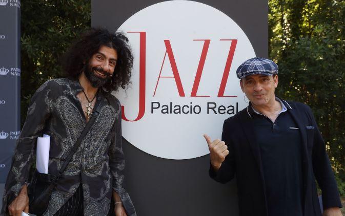 Ara Malikian y Zenet en la presentación de Jazz Palacio Real. | Foto: Efe
