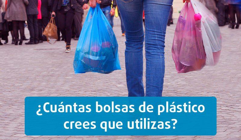 ¿Cuántas bolsas de plástico crees que utilizas?