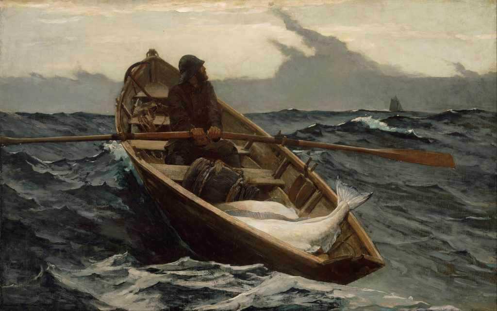 Winslow Homer, The fog warning, pintado hacia 1885. | CRÉDITO: Museo de Bellas Artes de Boston