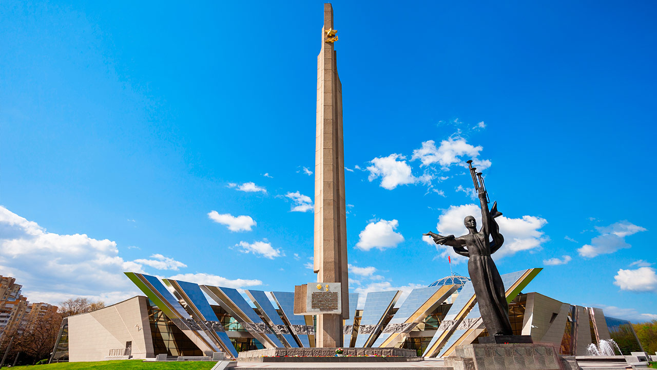 Obelisco en el Museo Bielorruso de la Gran Guerra Patriótica en Minsk, Bielorrusia   Foto: Shutterstock