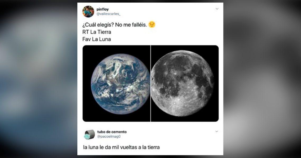 La Luna le da mil vueltas a la Tierra