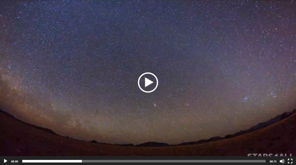 Perseidas en el desierto del Namib   Vídeo: Juan Carlos Casado