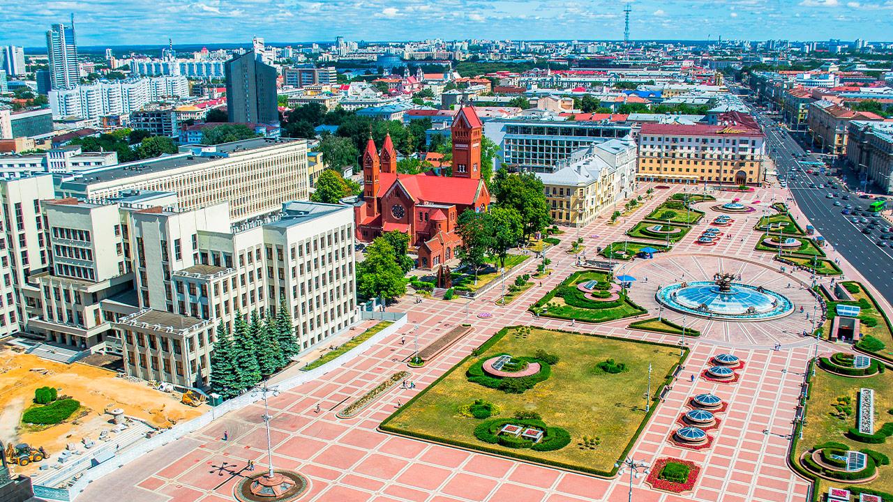 Plaza de la Independencia en Minsk, Bielorrusia   Foto: Shutterstock