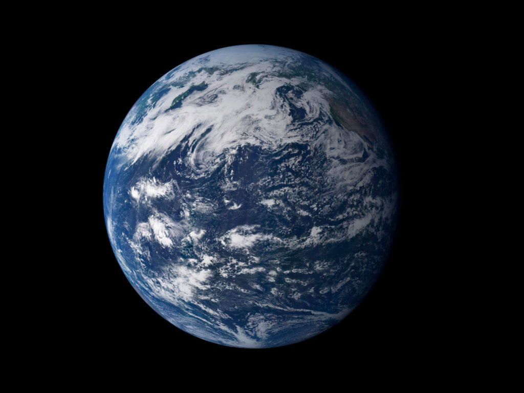 Vista desde el espacio, la característica más llamativa de nuestro planeta es el agua, que cubre el 75% de la superficie de la Tierra | Foto: NASA