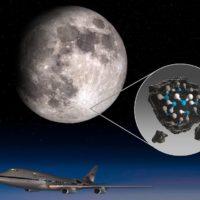 Encuentran agua en la cara iluminada de la luna