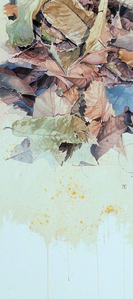 'Leyenda de otoño'. Acuarela del artista de naturaleza Fernando Fueyo.   Crédito: Fernando Fueyo