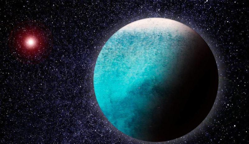 Un mundo oceánico en otro sistema planetario