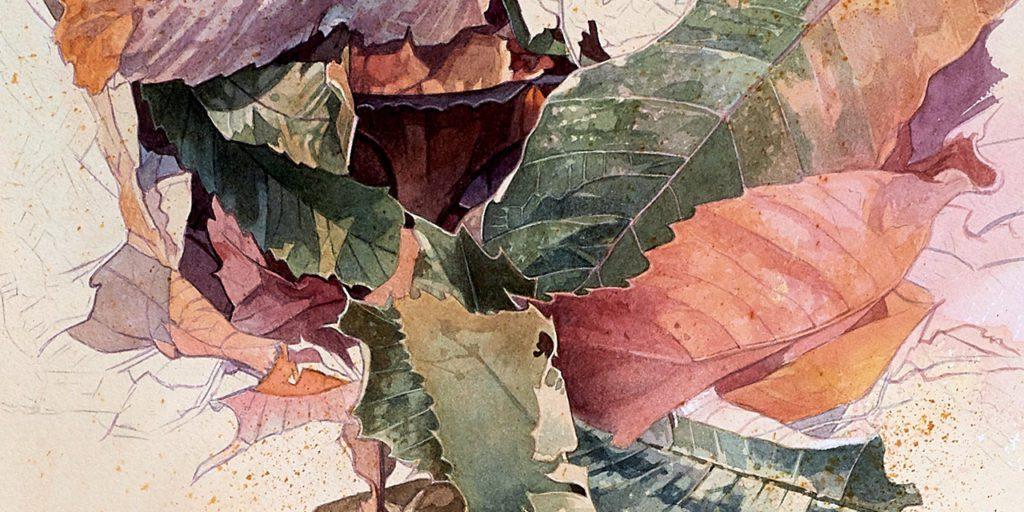 'Sueños de la Tierra', detalle. 'Acuarela del artista de naturaleza Fernando Fueyo. | Crédito: Fernando Fueyo