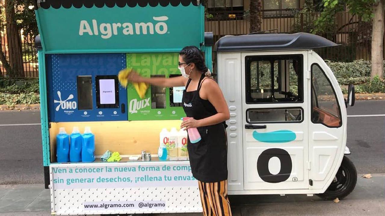 Dispensador de detergente de Algramo