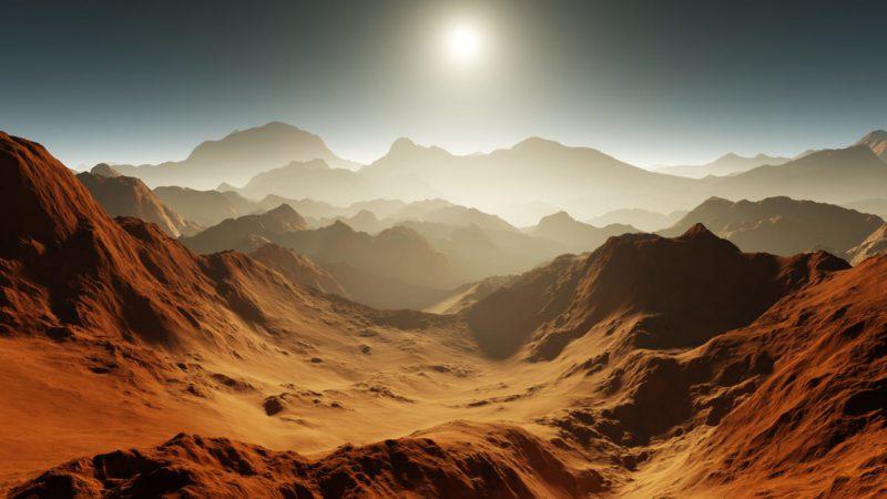 Las tormentas de polvo, detrás de la desaparición del agua en Marte