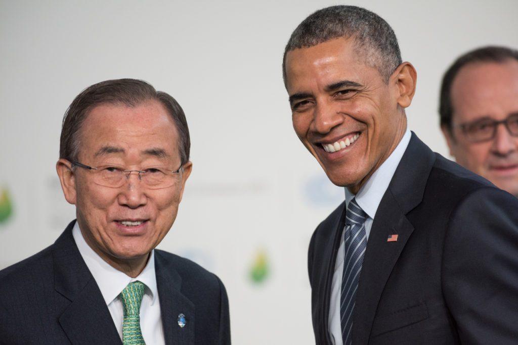 ban ki moon y obama durante la cumbre de Par%C3%ADs del clima Frederic Legrand COMEO 1024x683 - Joe Biden, momento de cumplir promesas