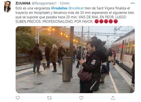 queja twitter rodalies trenes