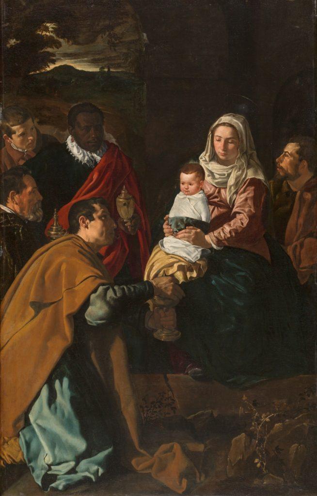 Adoración de los Reyes Magos de Velázquez, 1619. Óleo sobre lienzo, 203 x 125 cm. ©Museo Nacional del Prado